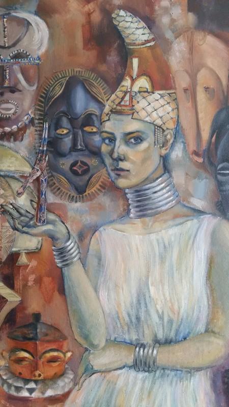 Autoportret cu măști africane (1)