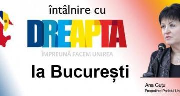 Discuție la București despre actualitatea din Republica Moldova: întâlnire cu Ana Gutu, președintele Partidului unionist DREAPTA