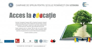 Acces la educație. Campanie de sprijin pentru comunitatea românească din Ucraina