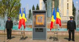 """Onor lui Avram Iancu! Drapelul de luptă al legiunii """"Auraria Gemina"""" comandate de Avram Iancu a fost expus în centrul Clujului"""