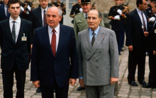 Președinții Gorbaciov și Mitterrand, aliați în procesul de refomare a Europei Centrale și de Est