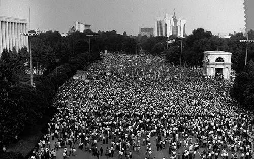 Demonstratie pentru grafie latina in RSSM Chisinau 1989