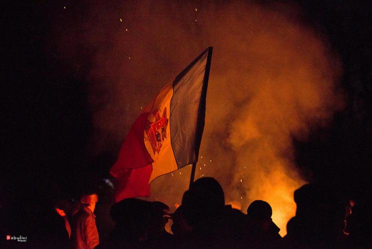 violente la Chisinau (foto- rfi.ro)