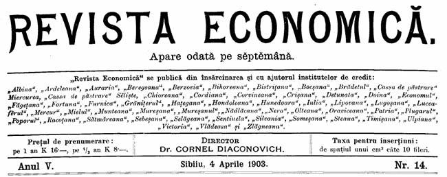 1903-Constituirea-Centrale-REVISTA-ECONOMICĂ