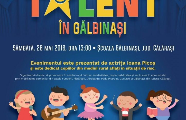 """""""COPIII AU TALENT ÎN GĂLBINAȘI"""" O șansă pentru stimularea  culturii, solidarității și responsabilității în mediul rural din România"""