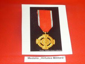 """14-Medalia """"Virtutea militară"""""""