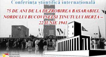 """Moment istoric la Chișinău! Conferința științifică internațională: """"75 de ani de la dezrobirea Basarabiei, Bucovinei și Ținutului Herța"""""""