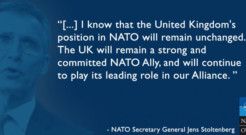 """Video: Marea Britanie părăsește UE dar """"va rămâne un puternic și angajat aliat NATO"""""""