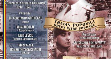 Foto-Video. Live la București! Omagierea lui Traian Popovici, primar al Cernăuțiului în timpul celui de-al Doilea Război Mondial, cunoscut pentru că a oprit deportarea a 20.000 de evrei din Bucovina