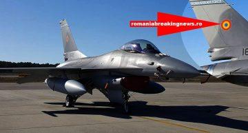 Moment Istoric. Primele F16 Fighting Falcon cu însemnele tricolore ale Forțelor Aeriene Române sosesc în țară! Vezi cum arată!