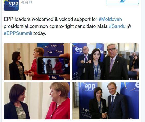 Angela Merkel, Donald Tusk și Jean-Claude Juncker o susțin pe Maia Sandu la președinția Republicii Moldova