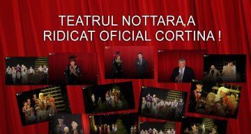Foto/Video: Emoție și istorie la București! Trupa Teatrului Ginta Latină din Chișinău a ridicat oficial cortina Teatrului Nottara