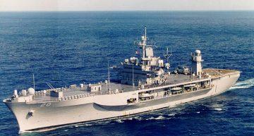 Nava comandant a Flotei a VI-a americane din Marea Mediterană se află în Constanța