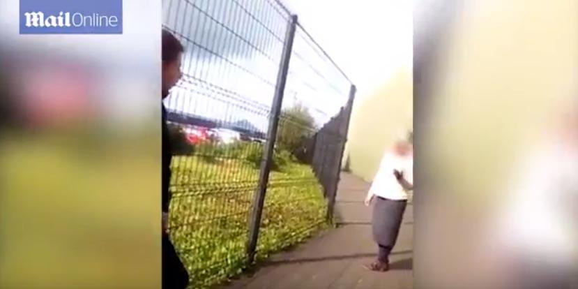 VIDEO! Act barbar. O româncă a fost înjosită și lovită cu pietre de un grup de elevi irlandezi.