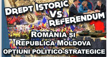 """Live! """"Drept istoric versus referendum. România și Republica Moldova: opțiuni politico-strategice"""" – O dezbatere ce inițiază la București, abordarea noului context geopolitic"""