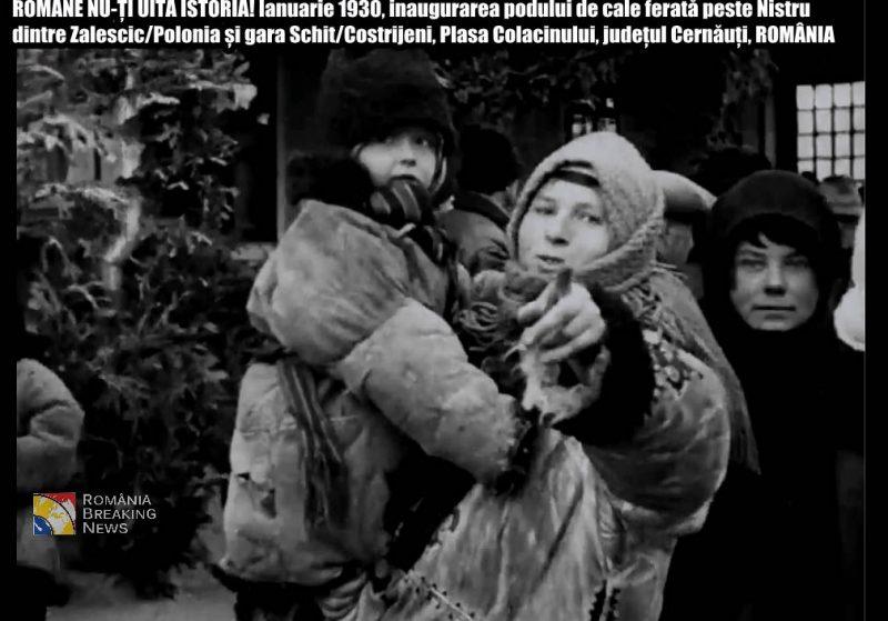 inaugurarea_podului_peste_nistru_1930_romania-polonia_cernauti_romani_interbelica