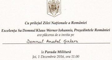 Ziua Bucovinei și Ziua Națională a României… un loc aparte în inima Șogunului (militar) al Republicii Moldova. Anatol Șalaru invitat oficial la Parada de 1 Decembrie (2016)