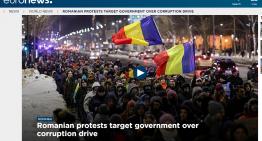 Live video! Protest de mare amploare la București! Zeci de mii de bucureșteni sunt în stradă pentru a protesta împotriva proiectelor de ordonanță de urgență din domeniul justiției
