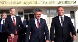 """Dodon la Tighina: În """"genunchi"""" și cu capul plecat, """"respect pentru oamenii și poporul moldovenesc transnistrean"""""""