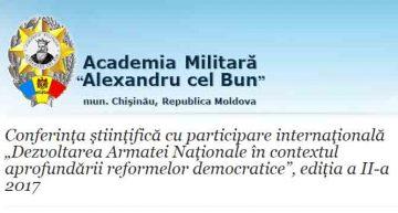 """Simpozion internațional în cadrul Academiei Militare """"Alexandru cel Bun"""" din Chișinău"""