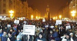 A 21-a zi de proteste. S-a demonstrat în Piața Victoriei contra guvernului Grindeanu