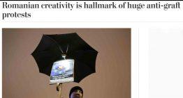 Washington Post: Creativitatea romaneasca marcheaza marile proteste anticoruptie