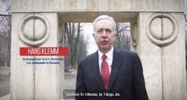 Video: Ambasadorul SUA la București, Hans Klemm – Pledoarie emoționantă pentru vizitarea orașului Tărgu Jiu și a capodoperelor lui Constantin Brâncuși