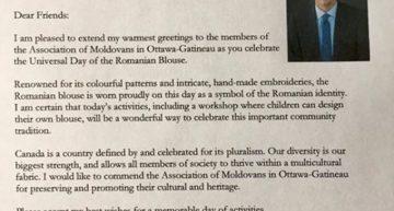 Premierul Canadei recunoaște într-o scrisoare oficială că moldovenii sunt români / DOCUMENT