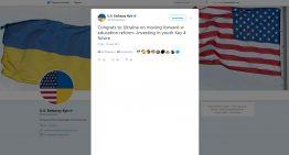NO COMMENT / Ambasada SUA la Kiev, felicită noua Lege a Educației adoptată de Ucraina / 10.09.2017