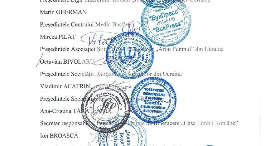 Comunitatea românească din Ucraina: Scrisoare deschisăPreședintelui României, Klaus Werner Iohannis, să intervină de urgență în situația creată în jurul școlilor de limbă română