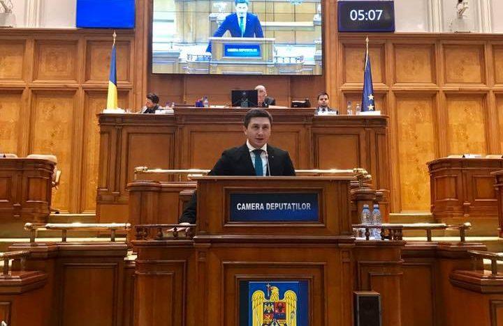 """Declarație în Parlamentul României: """"Reunificarea națiunii române, după model german, impune recunoașterea dreptului la cetățenie tuturor românilor din teritoriile ocupate de URSS"""""""
