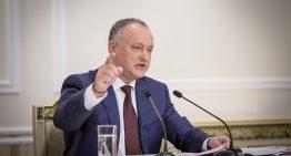 """Igor Dodon în fața presei ruse:""""voi bloca iniţiativa de modificare a denumirii limbii de stat (…) este moldovenească. Aşa a fost, este şi va fi!"""""""