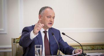 Declarație de presă a președintelui Republicii Moldova, Igor Dodon, față de căderea Guvernului Maia Sandu