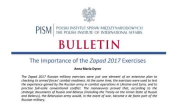 Reflexii poloneze asupra importanței exercițiilor militare ruse, Zapad 2017