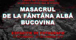 """Expoziție de fotografie """"Masacrul de la Fântâna Albă"""" la Constanța"""