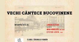De Ziua Bucovinei, concert de vechi cântece bucovinene la Clubul Țăranului Român. 99 de ani de la Unirea Bucovinei cu România