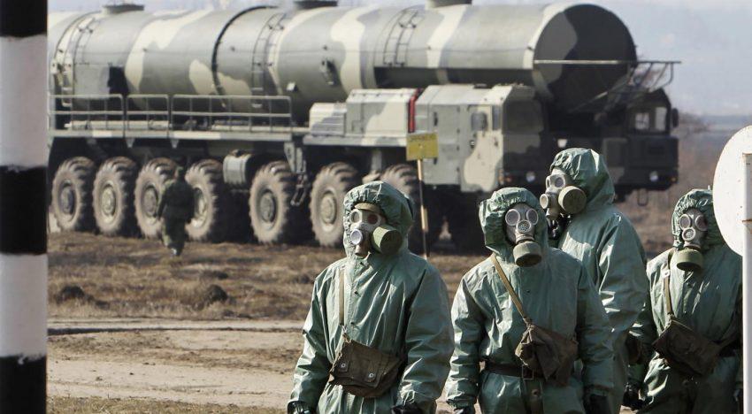 În ciuda inexistenței unei amenințări din partea NATO, armata rusă a desfășurat exerciții militare urmărind un scenariu de atac nuclear sau chimic asupra Rusiei