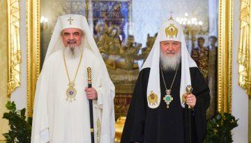 Patriarhul Bisericii Ortodoxe Române în vizită la Moscova la Patriarhul Bisericii Ortodoxe Ruse. Prima slujire a unui Patriarh al României în mănăstirea Pokrovsky din Moscova