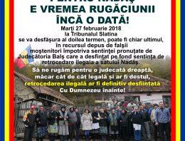 Ultimul act în Cazul retrocedărilor ilegale din Nadăș, satul furat cu tot cu biserică și cimitir