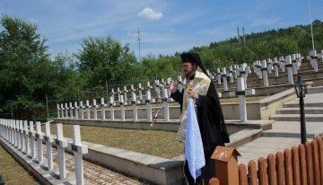 P.S. Veniamin, episcopul Basarabiei de Sud, sfintește locul de odihna veșnică al Eroilor Români de la Țiganca