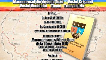 """De CENTENAR să nu-i uităm pe cei de """"peste Tisa"""" și de """"peste Nistru"""", care la 1918 au votat UNIREA! Eveniment la Clubul Țăranului Român"""