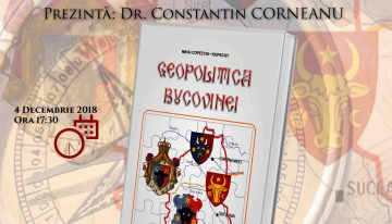 """Video: Lansare """"Geopolitica Bucovinei"""""""