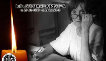 "Doamna  Iulia SCUTARU – CRISTEA, membru fondator ""Pro Basarabia și Bucovina"" a plecat la Ceruri…"