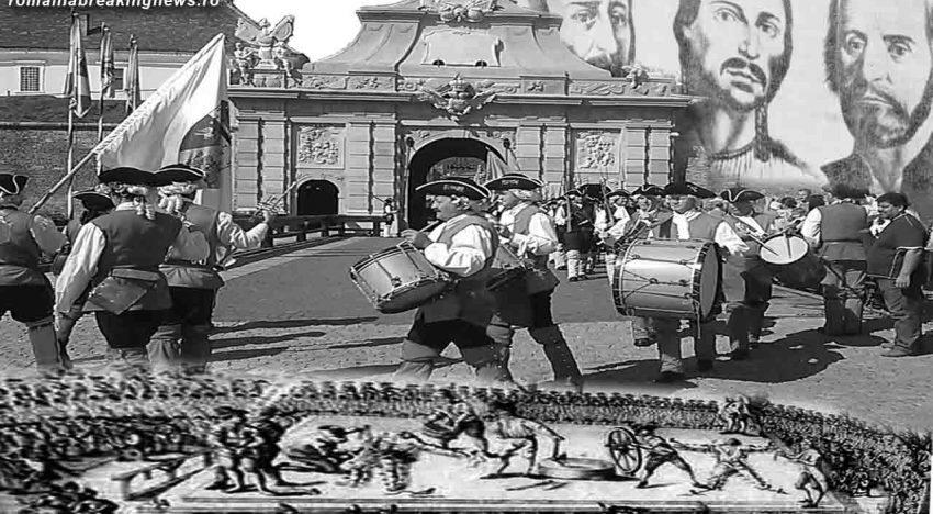 """28 februarie 1785: Horea şi Cloşca, conducătorii răscoalei ţărăneşti din Transilvania, sunt traşi pe roată pe platoul """"La furci"""" din Alba Iulia"""