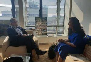 Întâlniri de lucru ale ministrului Natalia Elena Intotero cu comisarii europeni Julian King și Marianne Thyssen