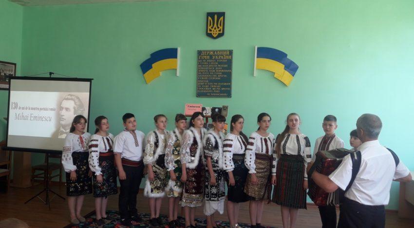 În regiunea Herța (Ucraina), comunitatea românească l-a comemorat pe Mihai Eminescu