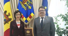 Prim-ministrul Republicii Moldova, Maia Sandu s-a întâlnit cu șeful Delegației Uniunii Europene la Chișinău, Peter Michalko