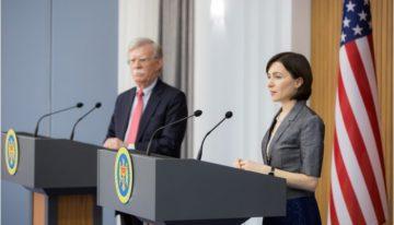 Premierul Maia SANDU s-a întâlnit cu John BOLTON, consilierul Preşedintelui SUA pentru securitate naţională
