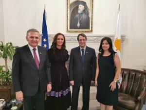 Ministrul Natalia Elena Intotero s-a întâlnit cu președintele Republicii Cipru, Níkos Anastasiádis, și cu comunitatea românească
