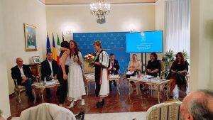 Ministrul Natalia-Elena Intotero s-a întâlnit, la Roma, cu membrii comunității și cu românca decorată de președintele Italiei